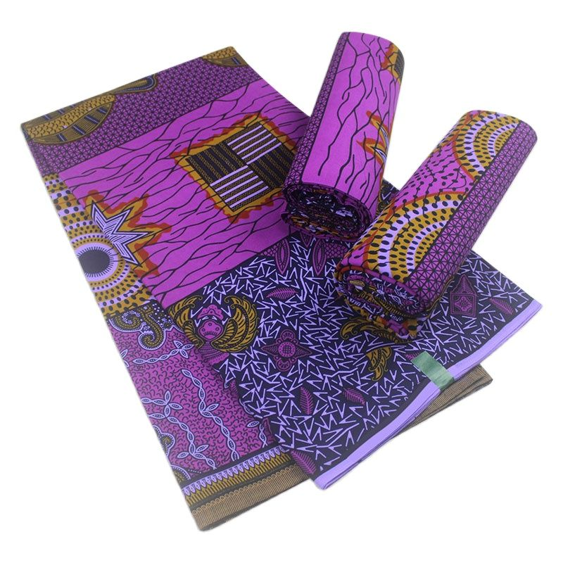 african wax tissus real wax 6yard/lot 2021 wax high quality african fabric wax print for sewing dress недорого