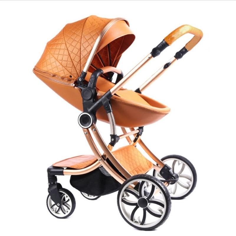 Four Wheels Stroller Travel Lightweight Stroller Can Sit Lie Down Luxury Stroller Pushchair Baby Stroller Newborn Buggy Baby Car