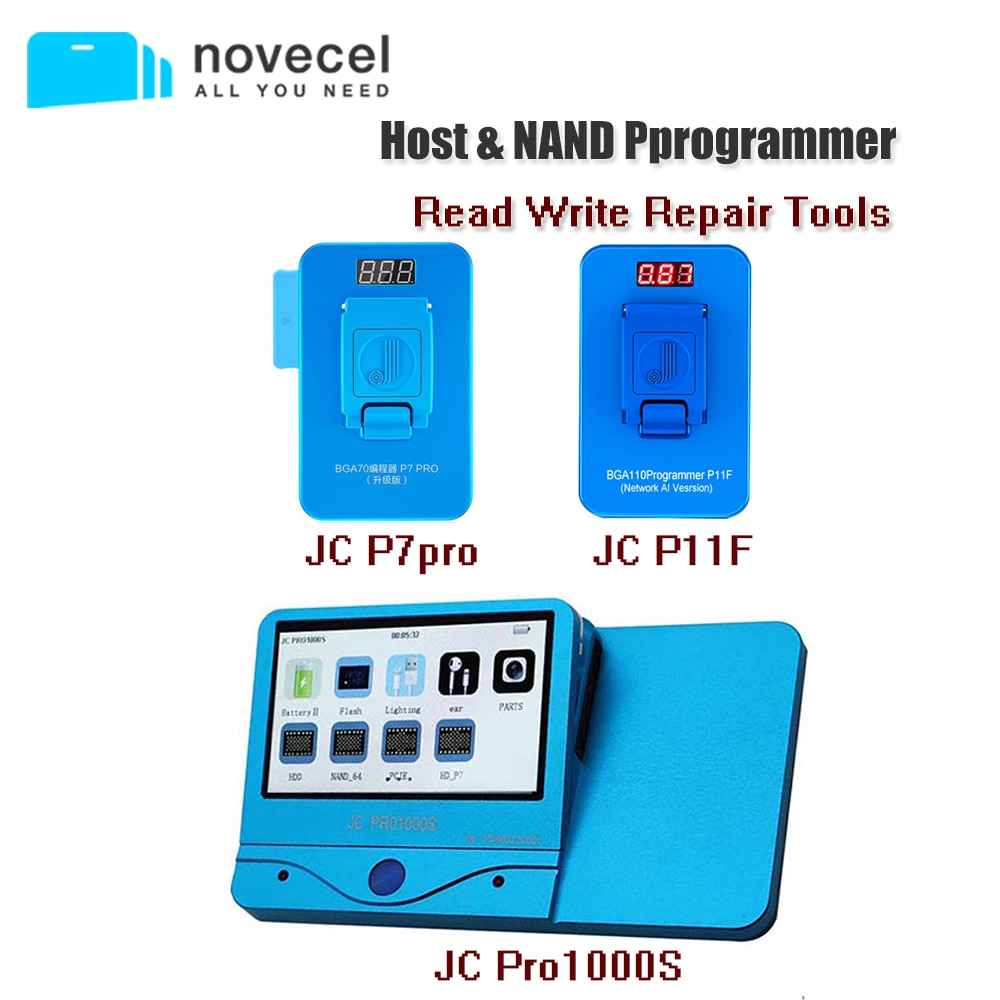 Promo JC Pro1000S JC P11 JC P7 PCIE NAND Programmer Read Write Repair Tool Data Cable Headphone Tester for iPhone iPad Motherboard