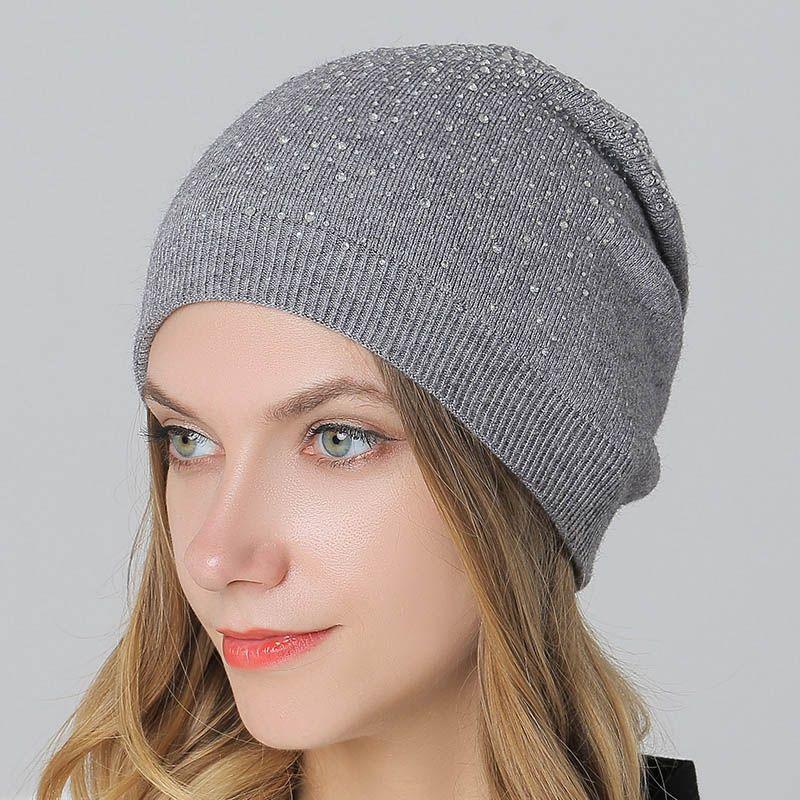 Вязаные плотные теплые шапки с помпоном, осенняя женская шапка для девушек, головной убор, Женская Повседневная Лыжная шапка, шапочки, облег...