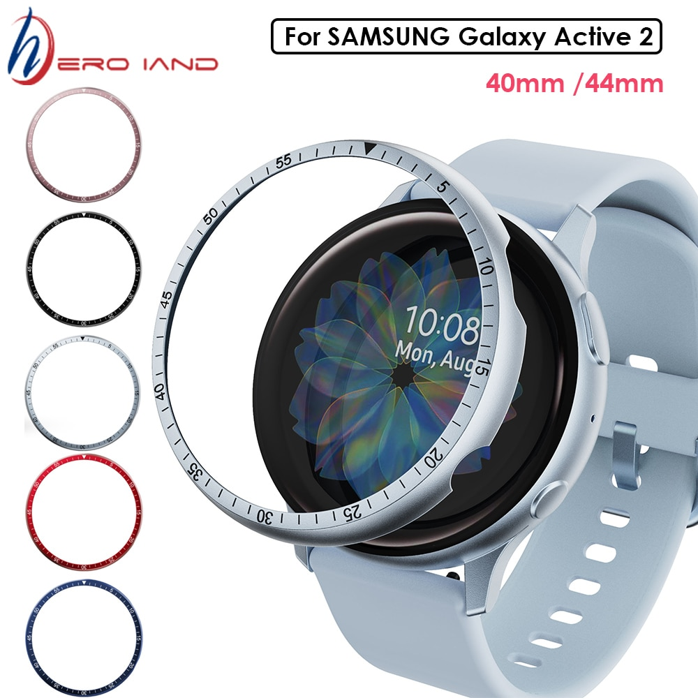 Bezel Ring For Samsung Galaxy Watch active 2 40mm 44mm Protector Case Cover Sport Adhesive Metal Bum