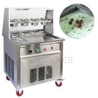 commercial fried yogurt machine fried ice machine 220v ice cream thai style dessert shop fried ice cream roll machine 3200w