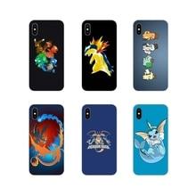De silicona funda para Apple iPhone X XR XS 11Pro MAX 4S 5S 5C SE 6 6S 7 8 Plus ipod touch 5 6 Anime empuja Pokemons de amigos