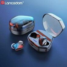 Langsdom T13D écouteurs sans fil avec micro Bluetooth 5.0 + EDR écouteur CVC8.0 suppression du bruit fone de ouvido Bluetooth