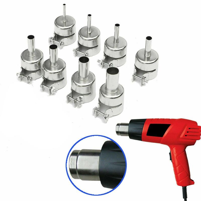 1PCS  3-12MM Universal Nozzle Stainless Steel Soldering Heat Gun Circular Nozzles for 850 852 Series Welding Soldering Supplies
