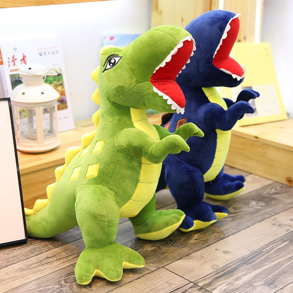Caliente dinosaurio Huggable juguetes de peluche de dibujos animados simulación Tyrannosaurus lindo muñecos de peluche para niños regalo de cumpleaños