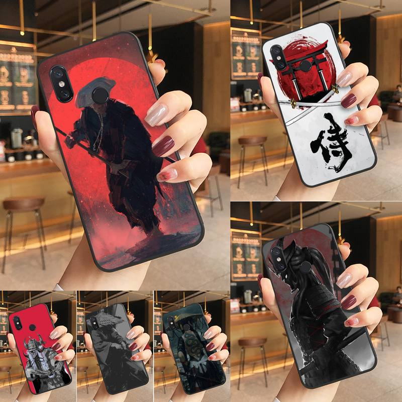 Yinuoda, funda de teléfono de goma suave Ninja samurái de Japón para Redmi K20 Note 5 7 7a 6 8 Pro note 8T 9 Xiaomi Mi 8 9 SE
