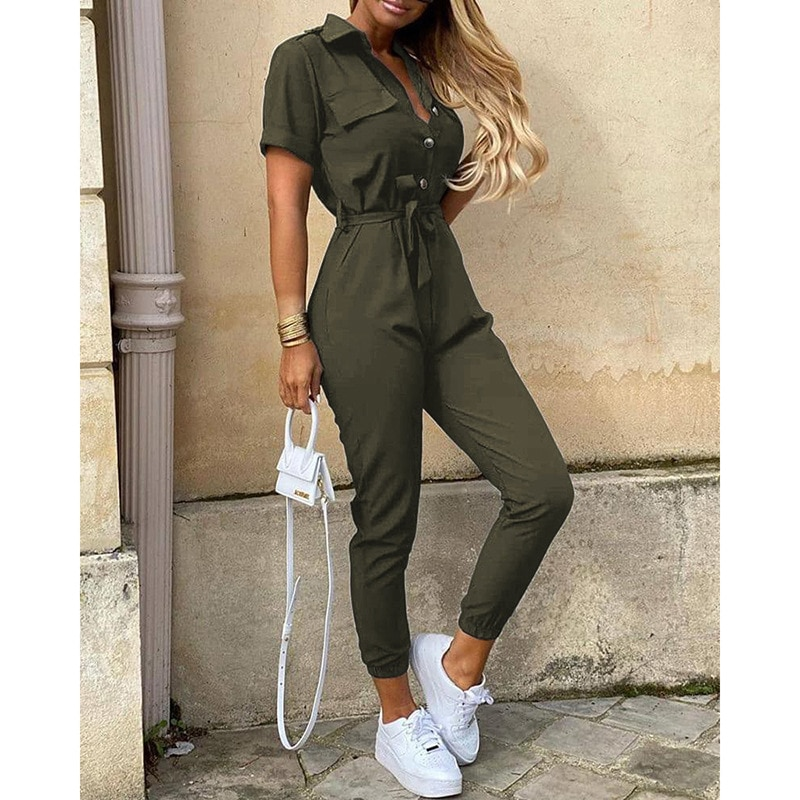 Indie Fashion Print Jumpsuits Women Summer Clothing Female Playsuits Body Jump Suit Comfortable Casual Solid Bodysuits 2021 Boho