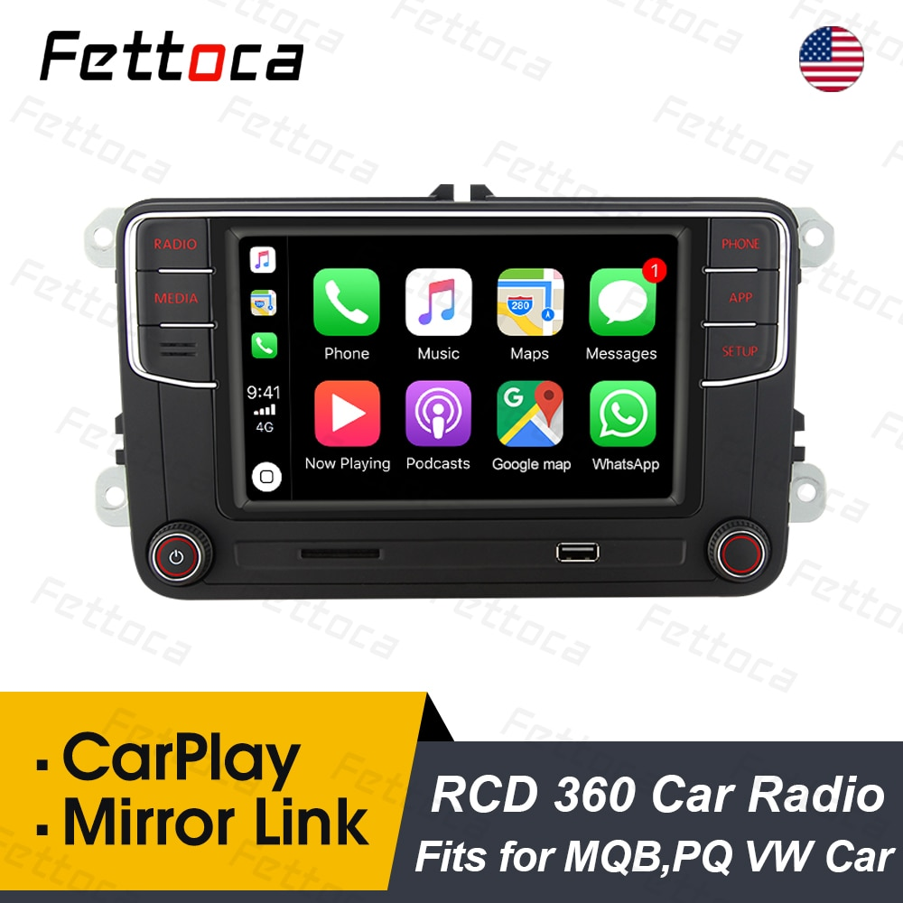 RCD360 Plus MIB Carplay Auto Radio 6RD035187B Noname Spiegel Link Steuergerät Für VW Polo Golf Passat Jetta MK5 MK6 B6 b7 Eos Bettle