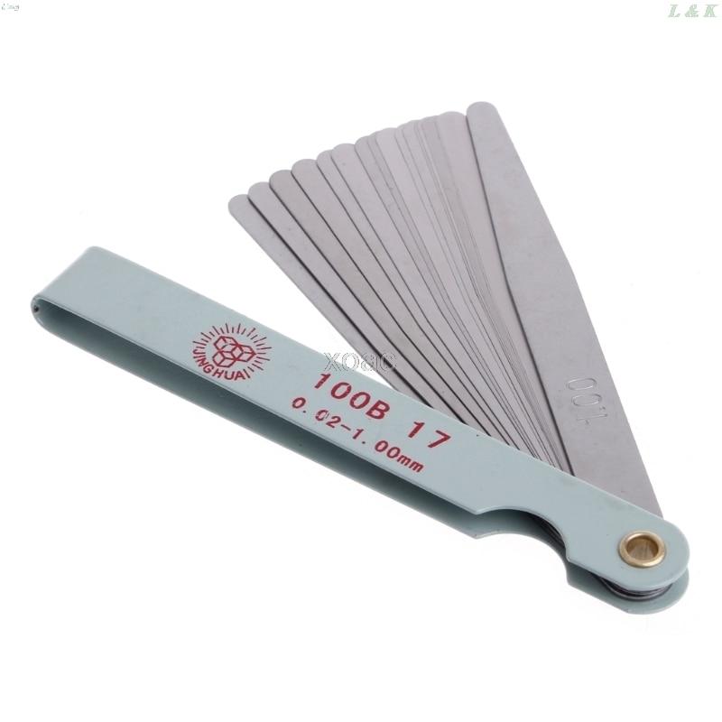 17 Blade 0.02 to 1mm Thickness Gap Metric Filler Feeler Gauge Measure Tool   M10 dropship L29K