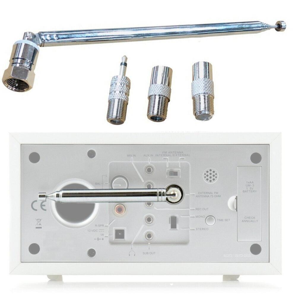 FM-радио антенна сменный Телескопический винт F Тип штепсельная вилка адаптер для AV стерео приемник домашний усилитель 75 Ом