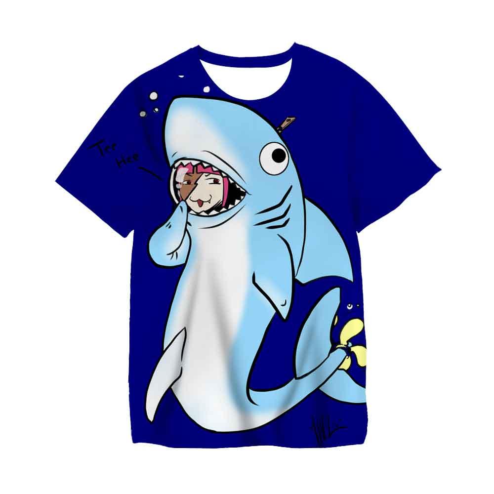 Summer Baby Boys Short Sleeve T-Shirt Shark Printed Cotton Bottomed Shirt Kids Girls T Shirt Summer Children Clothes Tops Tees