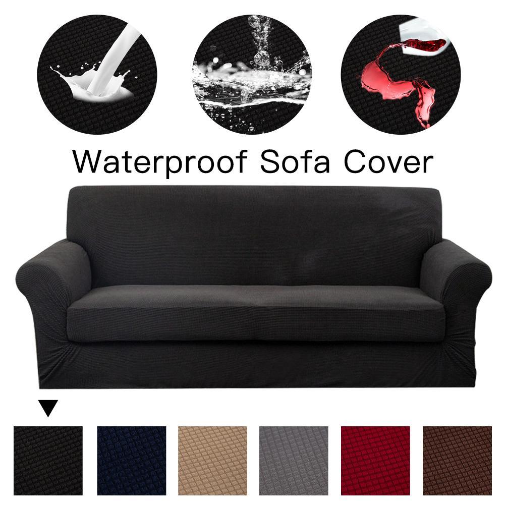 Funda de sofá repelente al agua de poliéster Premium, funda de sofá de alta elasticidad, funda de sofá de tela súper suave