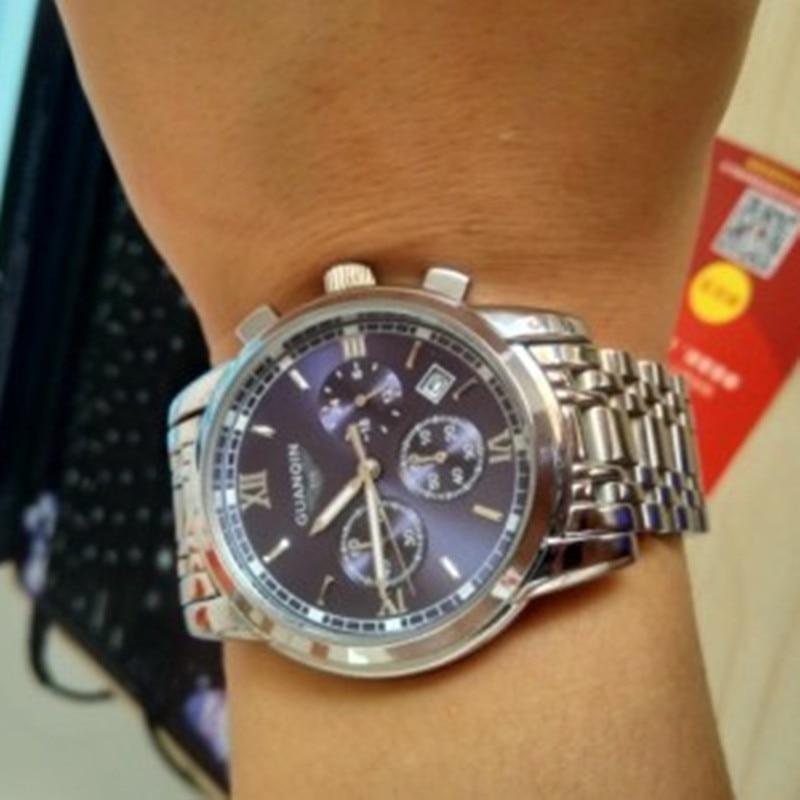 GUANQIN, relojes de cuarzo para hombre, cronógrafo de lujo para negocios, reloj de fecha, reloj deportivo de marca, reloj de pulsera para natación, relojes para hombre