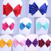 1050100pcsset high quality chair bowknot wedding chair sashes decoration 12 colors bow knot ties for party wedding banquet
