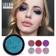 Lulaa-paleta de sombras de ojos, purpura, azul, verde, brillo, pigmento metálico, lentejuela, maquillaje de ojos