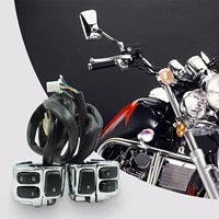 motorcycle headlight handle switch handlebar controller motorbike accessories durable handle switch plastic aluminum alloy