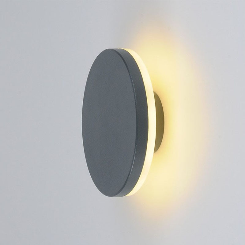 (WECUS )Creative Nordic outdoor wall lamp, outdoor waterproof LED wall light, courtyard corridor aisle balcony light