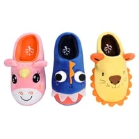 cartoon fashion winter unicorn home shoes for kids boys girls fluffy baby warm cute dinosaur children non slip slippers