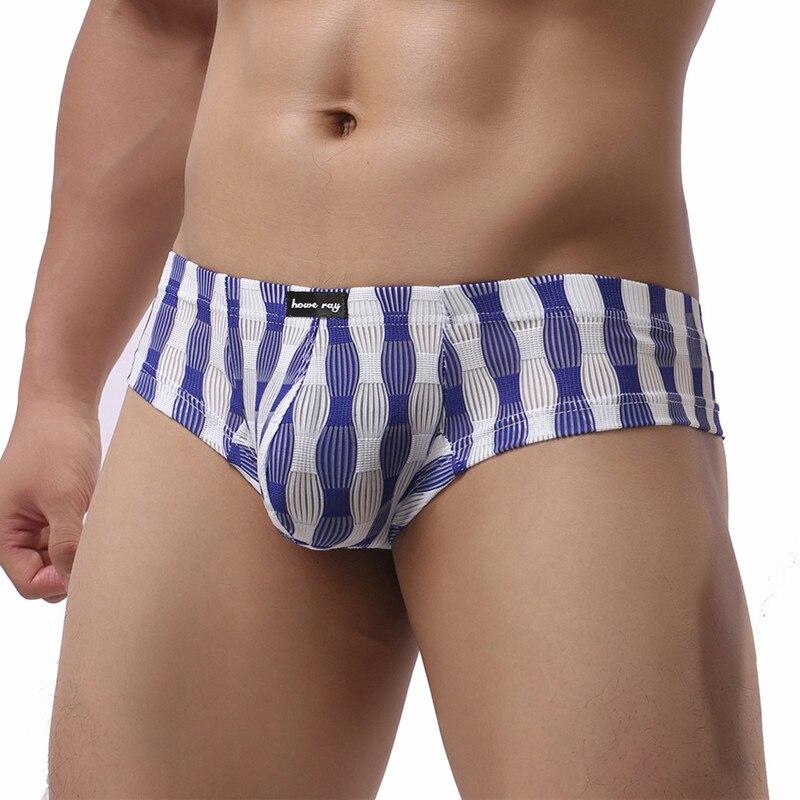 Мужские брифы Сексуальное белье Бикини, прозрачные сетчатые трусы, мужские стринги, трусы, гей-трусы с мешочком для пениса