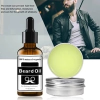 2pcs set mens beard care set nourishing and softening care beard oil beard cream repair fragile hair follicles