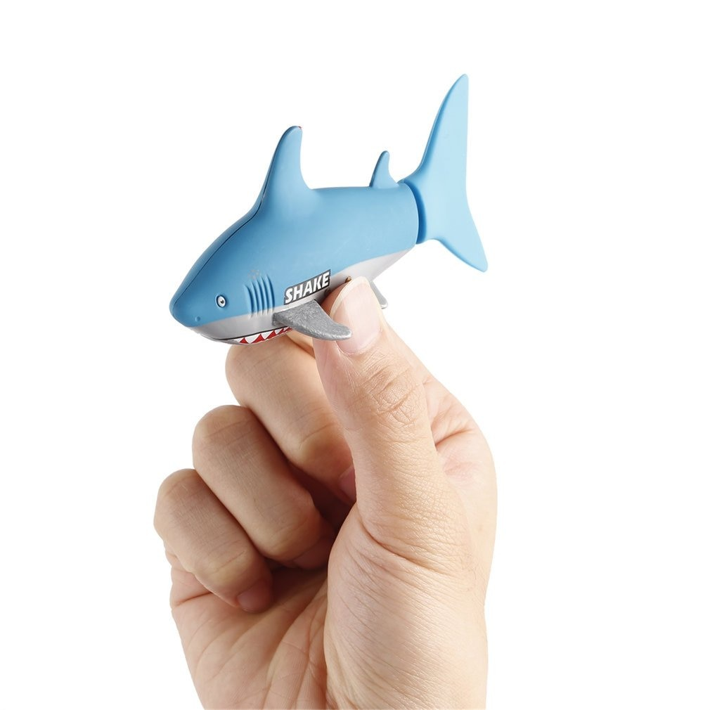 OCDAY Mini RC Submarine 4 CH Remote Small Sharks with USB Remote Control Toy New Fish Boat Best Chri