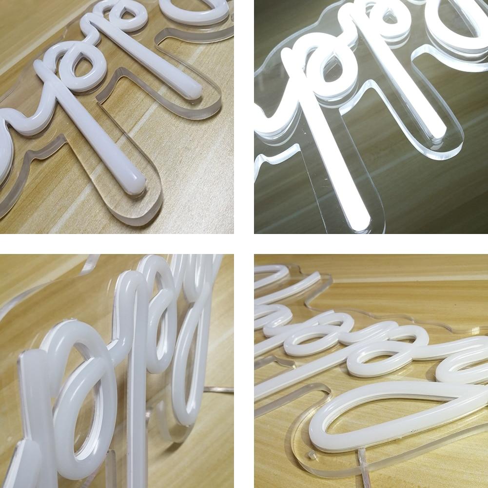 DECO Custom Logo Happy Birthday Led Party Light Flex Transparent Acrylic Letters Neon Lights Sign Wedding Party Decoration enlarge