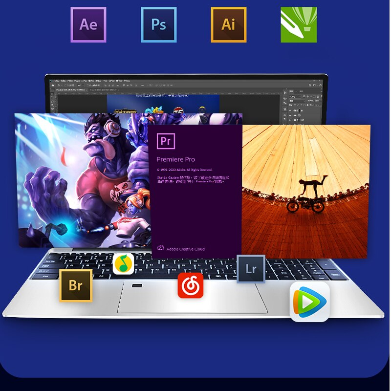 MAX Ram 36GB Max Rom 2TB SSD Metal Computer 2.4G/5.0G Wifi  Bluetooth Ryzen 7 R7 3700U windows10 Metal portable gaming laptop