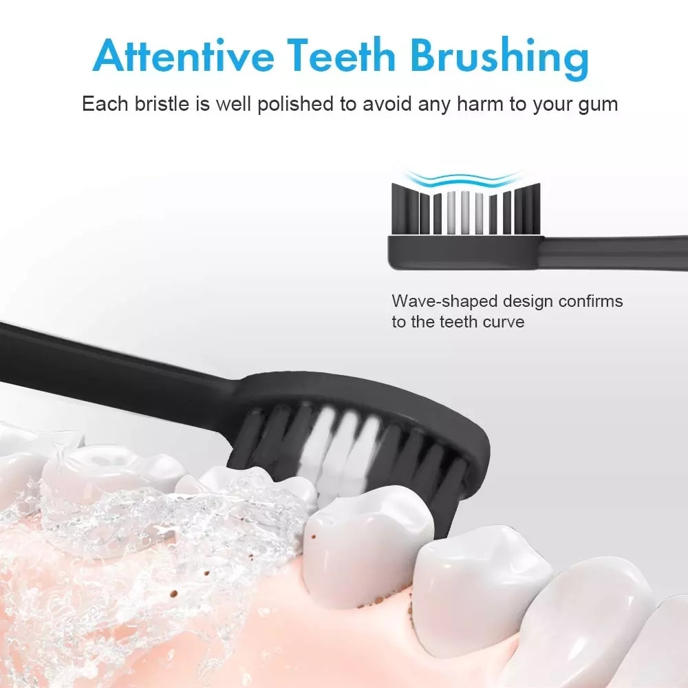 Electric Ultrasonic Sonic Dental Scaler Tooth Calculus Remover Cleaner Tooth Stains Tartar Tool with 5 Replaceable Brush Head enlarge