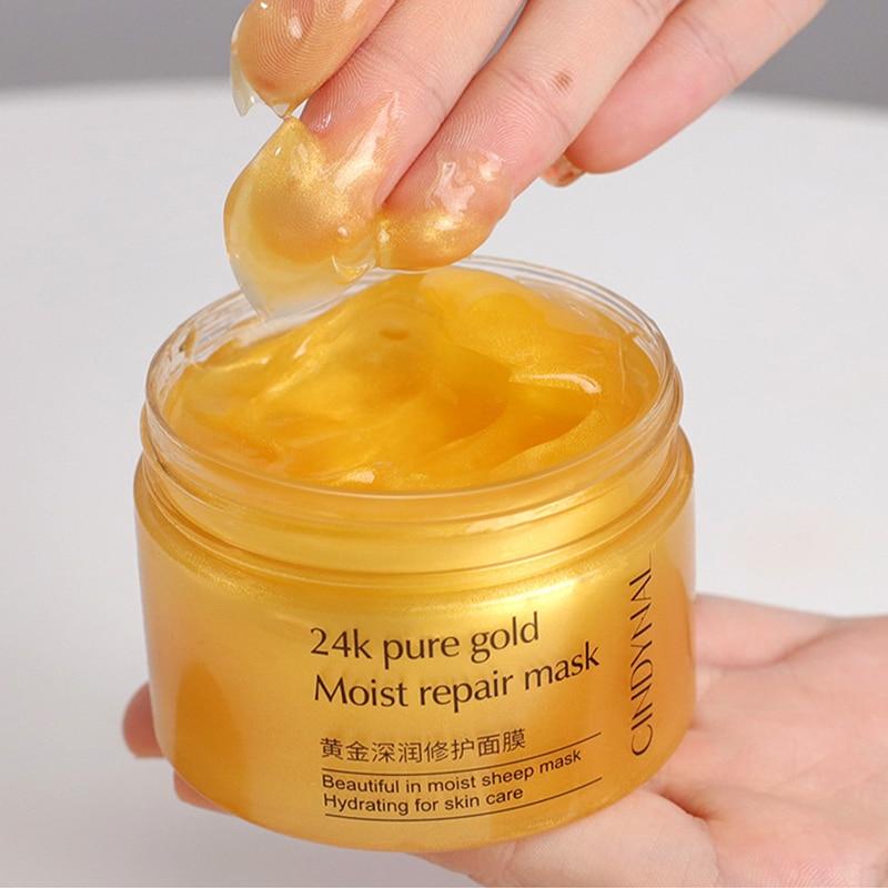 24k ouro hialurônico ácido soro aloe extrato creme facial hidratante profunda máscara de dormir anti rugas envelhecimento cuidados essenciais tslm1