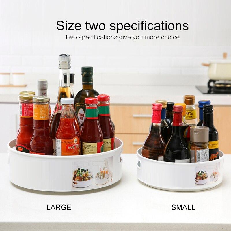 Multifuncional rotatorio bandeja de almacenamiento Anti-skid caja de condimento de cocina caja de almacenamiento cosmético escritorio bandeja de aperitivos plato de fruta