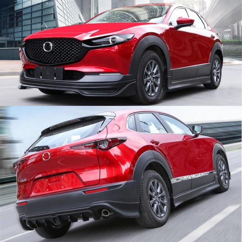 CEYUSOT ل 2020 مازدا CX-30 سيارة محاطة الجسم عدة ABS الوفير الجبهة الشفاه الخلفي الشفاه الشفة جانب جديد CX30 اكسسوارات السيارات المفسد