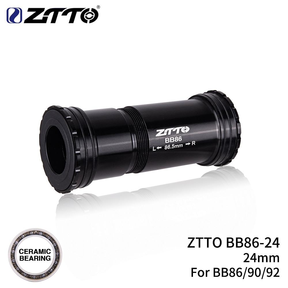 ZTTO BB86 24mm cerámica BB92 BB90 prensa ajuste soportes inferiores Bloqueo de rosca para bicicleta de carretera bicicleta de montaña 24 ejes bielas conjunto de cadena