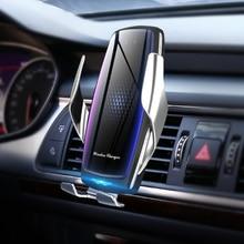 20W bezprzewodowa ładowarka samochodowa z oczyszczaczem powietrza Qi automatyczny zacisk szybki 15w ładowanie do Huawei P30Pro Mate30 Iphone11 XR XS MAX