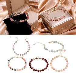 Pedra natural riqueza pulseira grânulo atrair riqueza pulseira presentes de aniversário