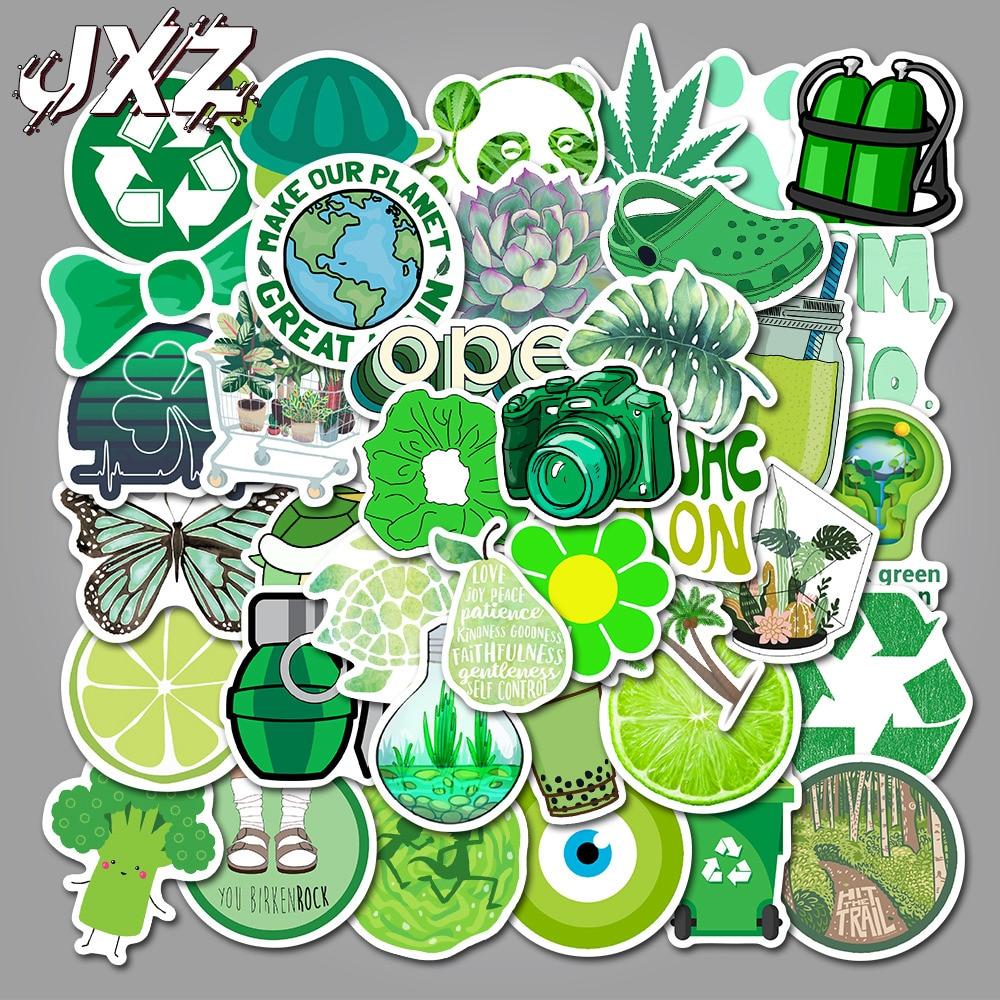 50 unidades/pacote vsco adesivos dos desenhos animados verde graffiti adesivo para skate bagagem portátil legal vinly adesivos de brinquedo do miúdo adesivos