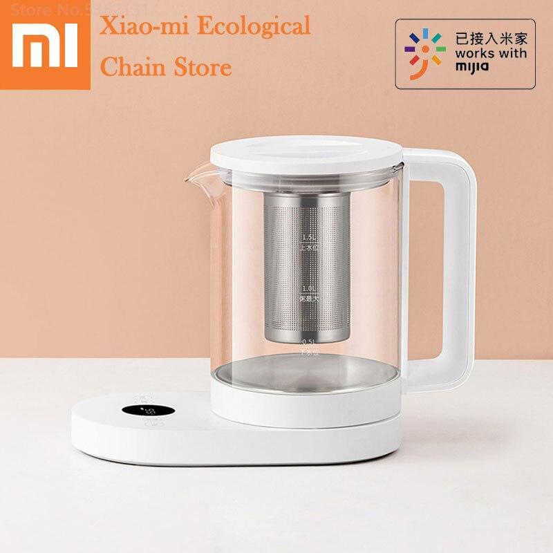 Pote de Saúde Aquecimento de Alta Isolamento de Aquecimento de Água Xiaomi Mijia Inteligente Multifuncional Potência Ajuste Temperatura Quente Chaleira 1000w