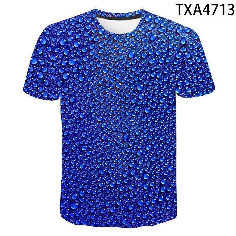 Boy Girl New Hot Summer Fashion Short Sleeve T Shirt The Waterdrop 3D Printed T-shirt Men Women Children Casual Cool Tops Tee недорого