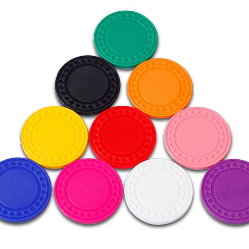 10 шт./компл. без значения пустой покерный чип валюта, круговая Защита окружающей среды пластиковый маджонг счетная Карта 9 видов цветов 40 мм