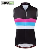 wosawe cycling vest summer sleeveless reflective running vest windproof light mesh fabric breathable bike jersey ropa ciclismo