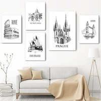 london bridge pyramid sydney opera house wall art canvas painting nordic posters and prints wall pictures for living room decor
