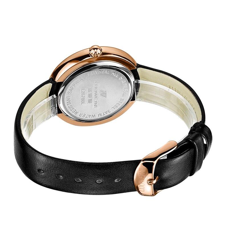 Luo Wei Ni Fashion Genuine Leather Waterproof Fashion Watch Lady Quartz Watch enlarge