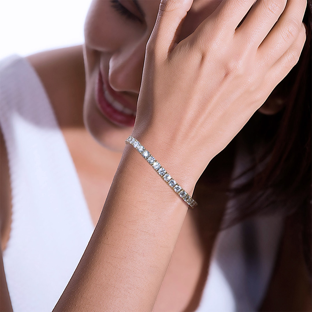 P&Y S925 USA Top Selling Tennis Bracelet Men Women Jewelry VVS D Class 3mm 4mm GRA Certificated Moissanite Tennis Chain