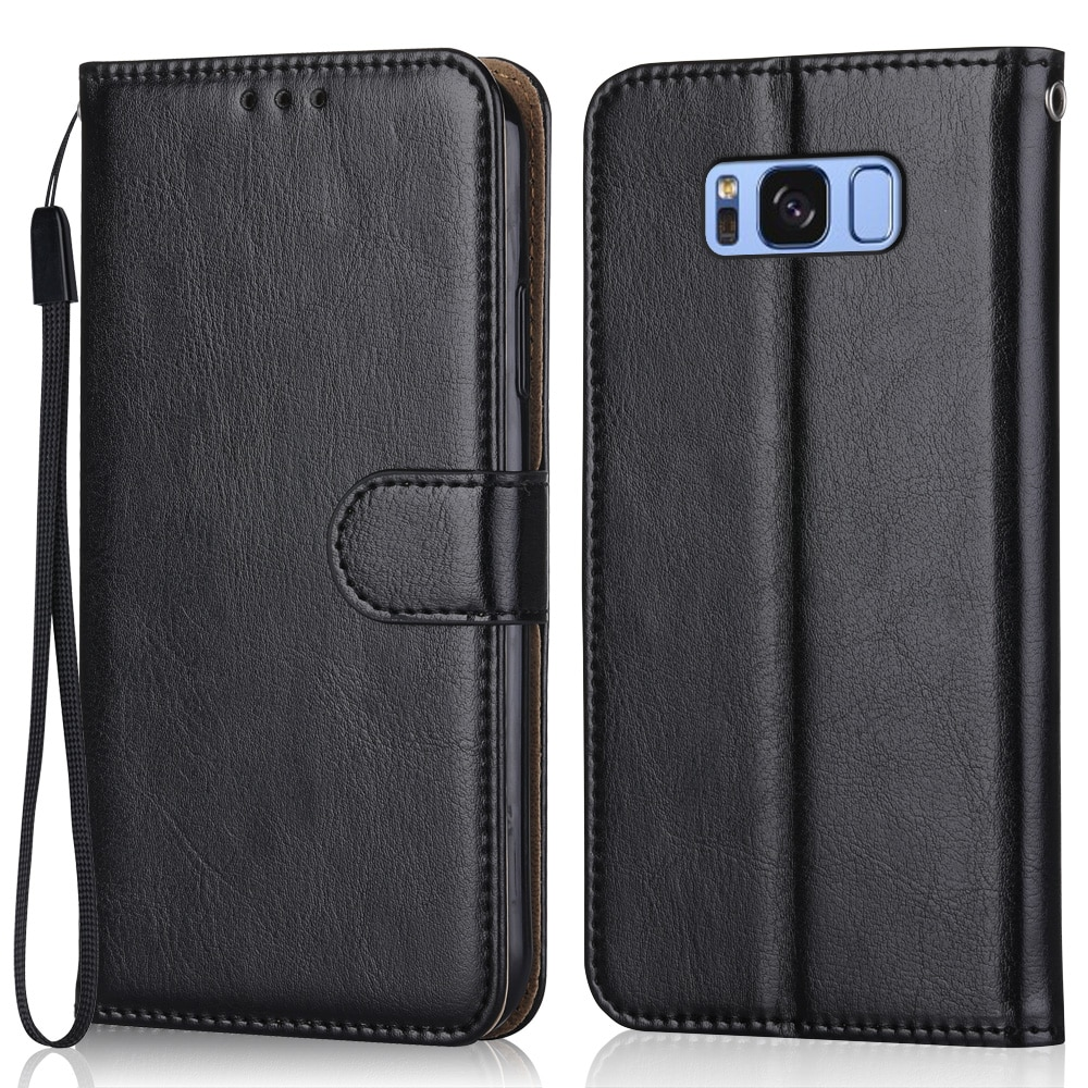 Luxury Leather Case for On Samsung Galaxy S8+ S8 Plus G955 G955F SM-G955F 6.2''Wallet Stand Flip Cas