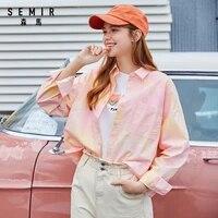 semir women cotton blouse 2020 new trend fashion long sleeve fashion design sweet shirts for woman