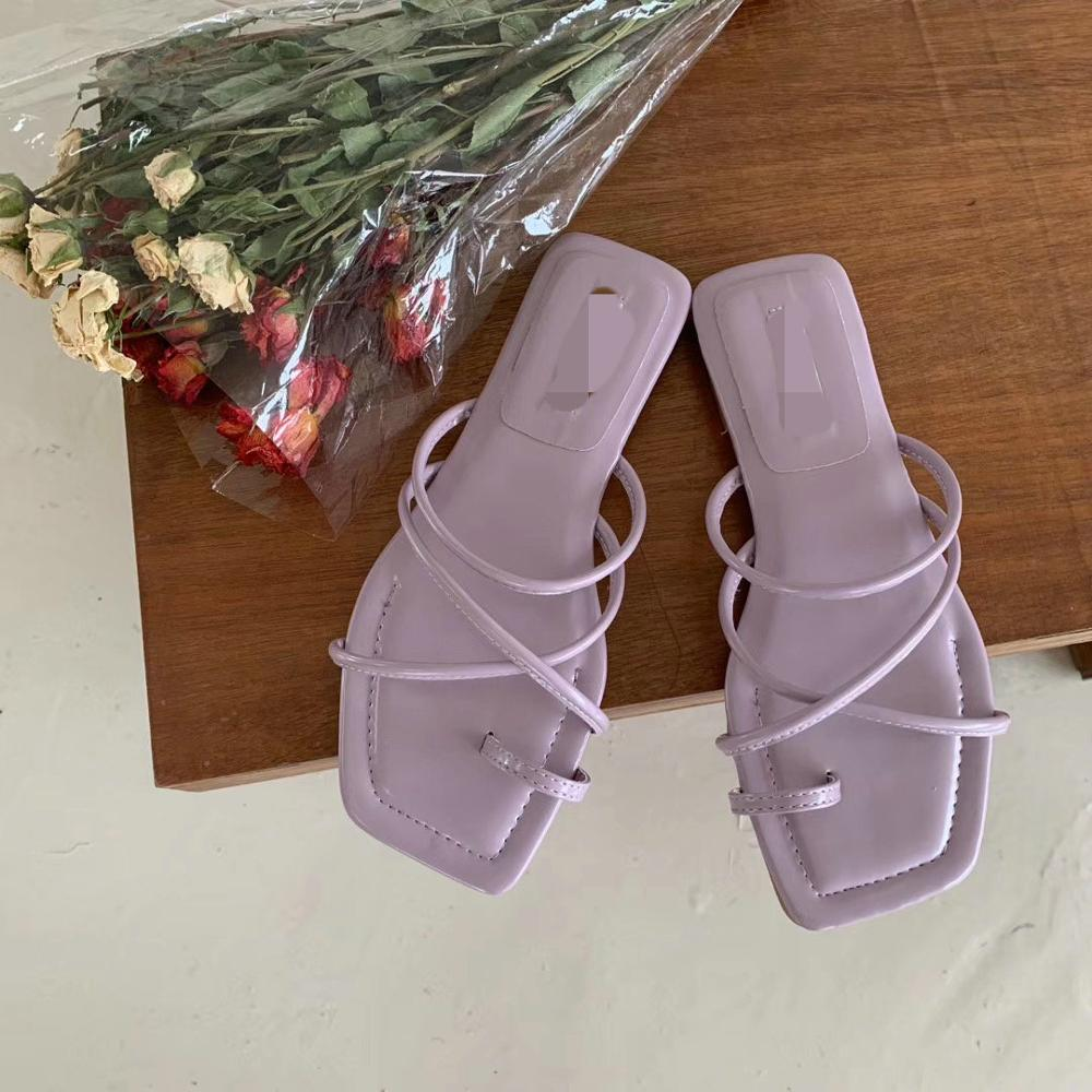 Toppies sandalias de verano para mujer, zapatos planos de mujer, zapatos de goma cómodos de moda coreana, sandalias de mujer de verano con tacón