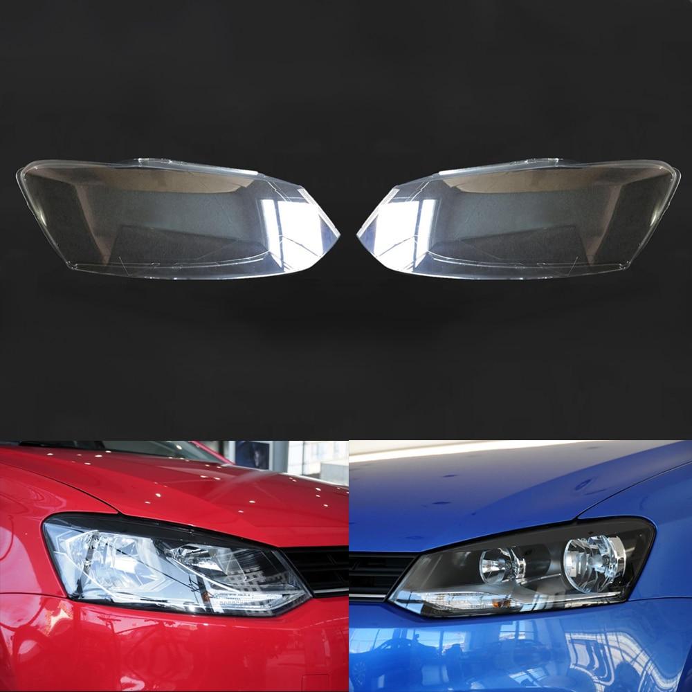 Car Headlamp Lens For Volkswagen VW Polo 2014 2015 2016 2017 Transparent Car Headlight Headlamp  Lens Auto Shell Cover