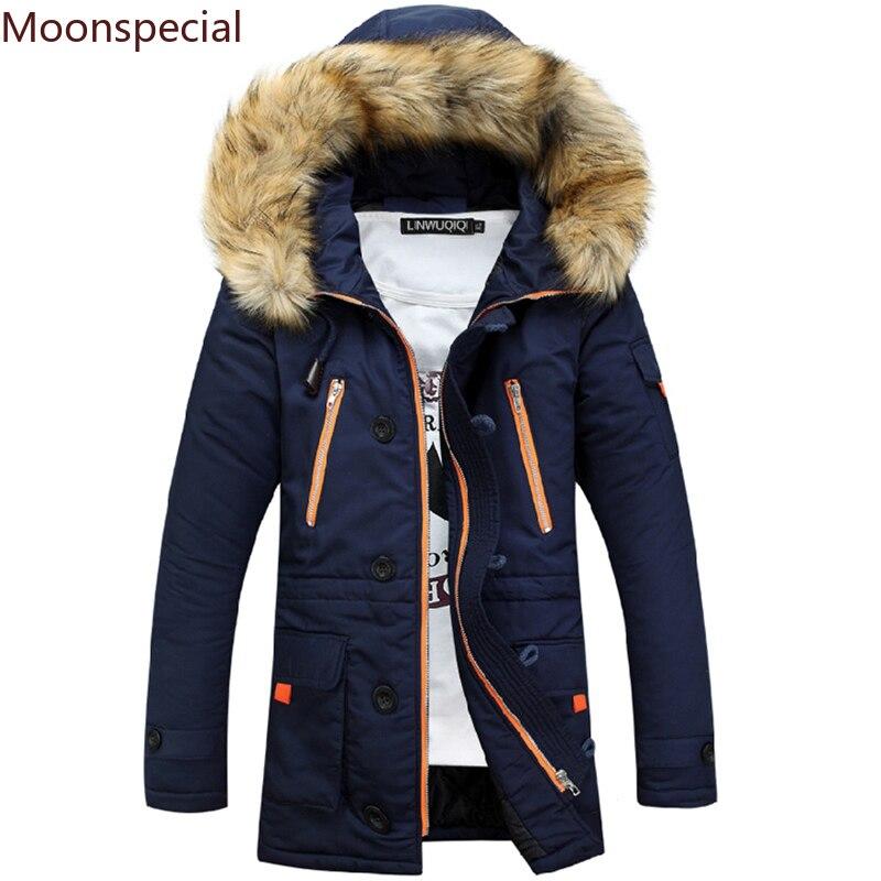 Толстая теплая парка 8XL, зимняя мужская куртка с капюшоном на меху до-15 градусов, Повседневная Длинная Верхняя одежда, ветровка с капюшоном и...