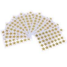 350 Teile/beutel Kind Vergoldung Belohnung Flash Aufkleber Lehrer Lob Label Award fünfzackigen Stern Gold Aufkleber Selbst-adhesive aufkleber