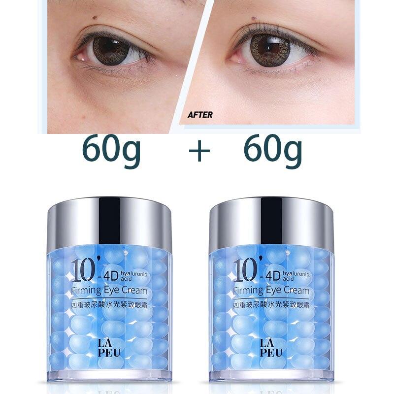 4D инъекции гиалуроновой кислоты для ухода за областью вокруг глаз 60 г темных кругов под глазами увлажняющий антивозрастной крем для удаления кругов под глазами, унисекс, для мальчиков и девочек в Корейском стиле, для ухода за кожей